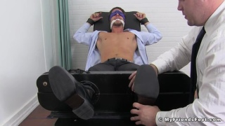 Daxx Carter tickles Businessman Sergey at My Friends Feet