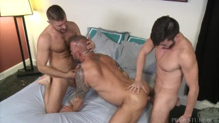 threeway sex with Scott DeMarco & Jack Andy fucking Jon Galt at men over 30