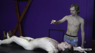 master enjoys listening to his helpless boy's protestations