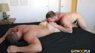 Alpha Male Derek Jones Fucks Teddy Bear Dorian James at Gay Hoopla