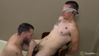 straight guy has intense orgasm during edging session