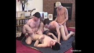 four boys suck dick and fuck on the floor
