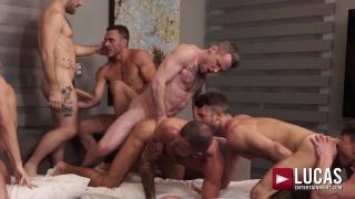 unforgettable 10-man bareback group encounter