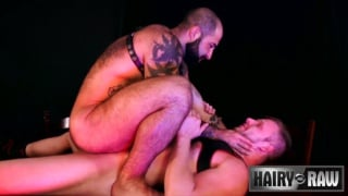 sean knight & scotty rage fuck at Hairy and Raw