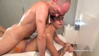 massage sex with Mater and Frankie at Bareback Me Daddy