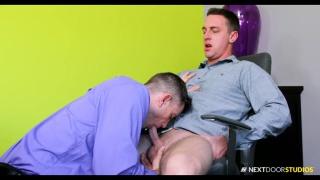 guy releases his boss needs servicing at Next Door Buddies