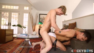Taylor Reign fucks Mateo Vice with hands tied behind his back