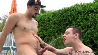 pool sex & piss play
