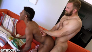 straight black guy takes his first cock & it's a big one
