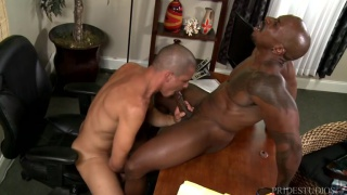 interracial sex with  Adrian Cortez & Max Konnor at Men Over 30