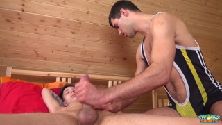 gay massage sex with Will Simon and Stanley Falls at Twinks in Shorts