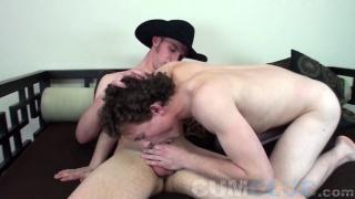 18-year-old Cowboy Cum at CumClub.com