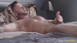 handsome hairy hunk James Ray's JO video at Next Door Male