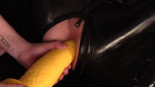 guy spanks his slave & prepares his ass for dildo play