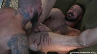 hairy hunks Alexander Kristov & Marco Napoli fucking
