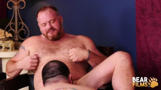 hairy bears are sensual and almost romantic in this session