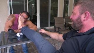 Arm Wrestling Challenge & loser licks the winner's feet