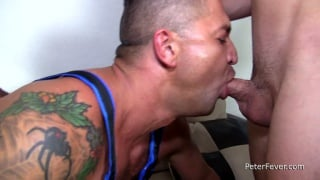 threeway sex with dominic pacifico, max konnor & axel kane at Peter Fever