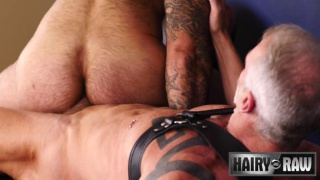 bear sex with Dallas Steele fucking Atlas Grant at Hairy and Raw