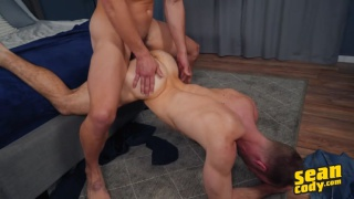 furry bottom gets his ass stretched & filled with cum
