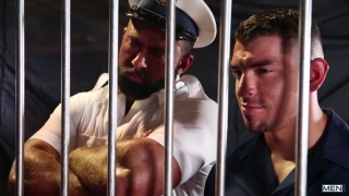 threeway sex with Diego Sans, Steven Roman & Jeremy Spreadums at MEN