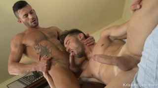 Andy Star flip-fucks with Marcos Oliveira at Krsiten Bjorn