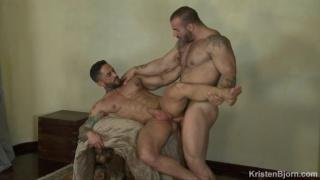 bodybuilder sex with Max Hilton & Robin Sanchez at Kristen Bjorn