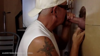 Married Guy Gets Gay Blowjob at Gloryhole Hookups