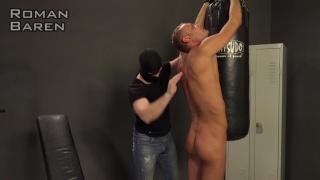 Roman Baren's sexy ass is spanked hard at Str8 Hell