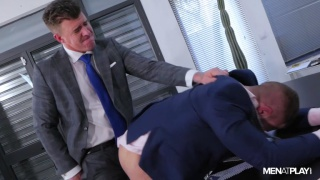 first day on new job, and his boss comes onto him