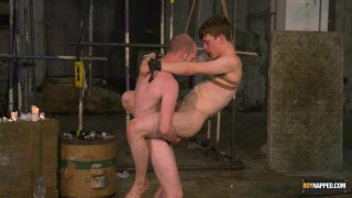 master hangs his slave boy in a rope swing & fucks his ass