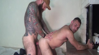 Jack Dixon Paints Blake Houston With A Creamy Load