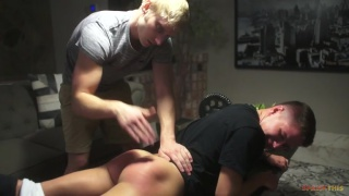 Max Carter spanks Dylan Hayes at Spank This