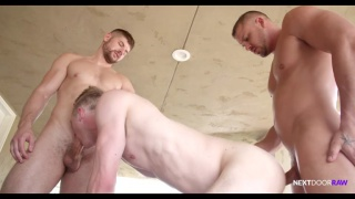 threeway sex with Darin Silvers, Connor Halsted & Ty Derrick at Next Door Raw