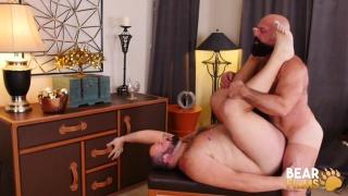 bald daddy takes his bear buddy's hole deep, hard & rough