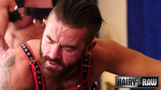 handsome daddy fucks a bearded irish guy's ass