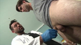 hung latino doctor fucks his patient during an exam