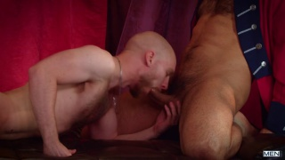 furry guy with shaved head gets fucked by older Venezuelan man