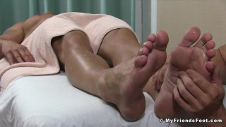 guy heard this massage studio gives great foot worship service