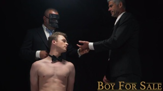 master wins sexy boy at auction & breeds his ass right there