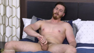 big-dicked bearded guy says he loves to bottom