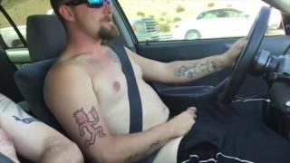 Naked Driving at My Straight Buddy