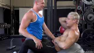 gym sex with Adam Gregory fucking Alam Wernik at FALCON