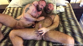 Bear man named Maverick fucking liam angell at Muscle Bear Porn