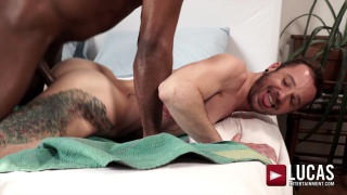 interracial sex with ANDRE DONOVAN fucking  DRAKE ROGERS