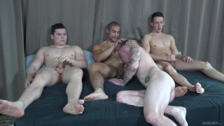 a very rare fourway sex session at Active Duty