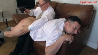 student gets his big beefy butt spanked