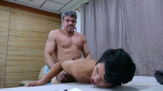 Daddy and George Desk Fuck at Daddy's Asians