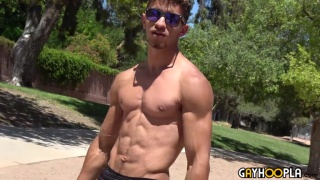 ripped stud Ty Jason Jacks Off at Gay Hoopla