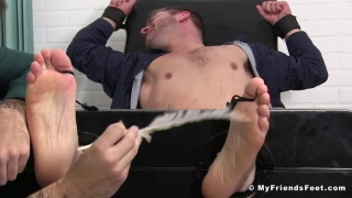 Sean holmes Tickled By Co-Worker Casey at my friends' feet
